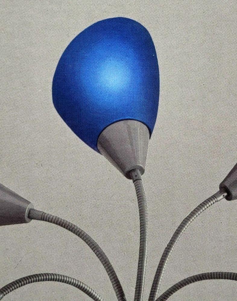 Hampton Bay Floor Lamp Replacement Blue Lampshade Plastic 1002 593