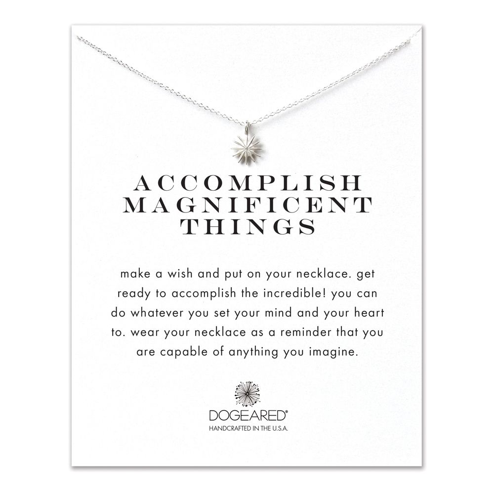 Dogeared Accomplish Magnificent Things Sterling Silver Necklace at Nespoli Jewelers