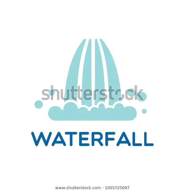 Waterfall Logo Icon Vector Illustration Stock Vector Royalty Free 1055725097 Vector Illustration Logo Icons Stock Images Free