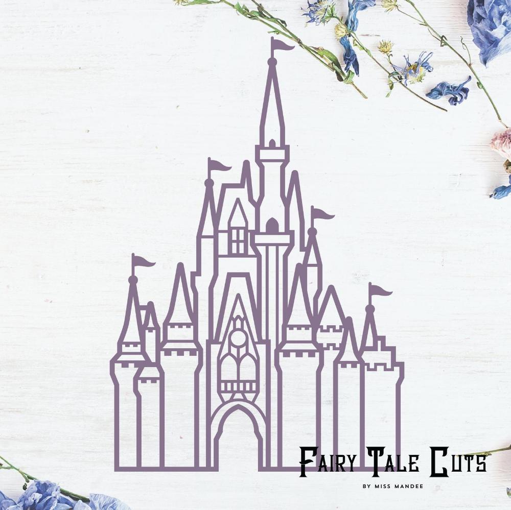 Cinderella S Castle Disney World Castle Inspired File Etsy In 2021 Disney World Castle Disney Castle Outline Disney Castle Drawing