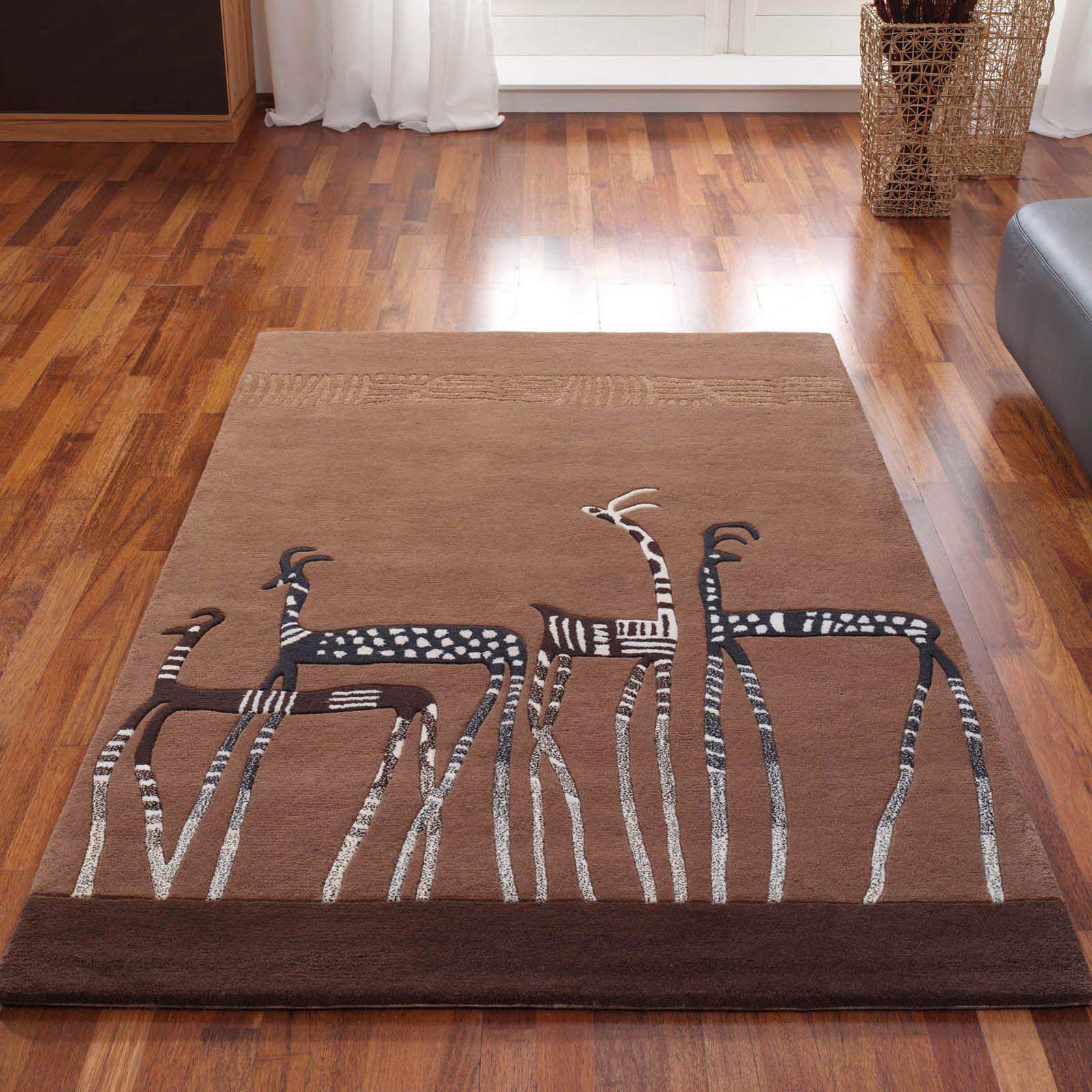 Kalahari Antelope Rugs In Brown120x180cm 5 7 Quot X4 0