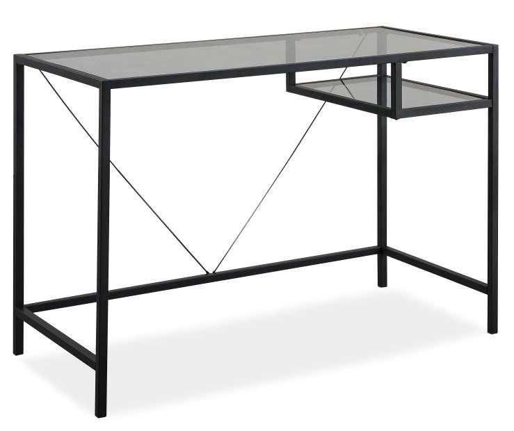 Just Home Black Glass Desk Big Lots Black Glass Desk Glass Desk Big Lots Furniture