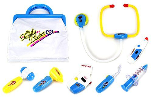 a9e6f6331463d My Family Doctor 8 Piece Pretend Play Toy Medical Kit Play Set ...