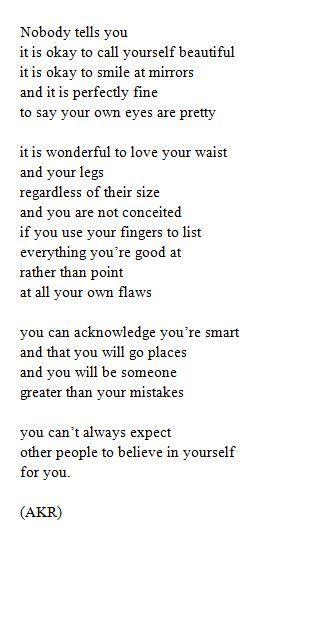You Can T Always Expect Other People To Believe In Yourself For