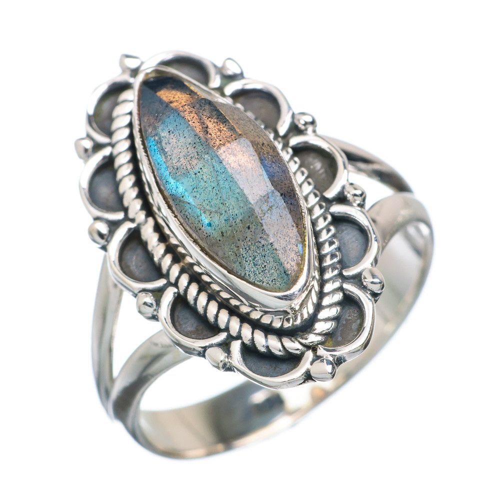 Labradorite 925 Sterling Silver Ring Size 7.25 RING723634