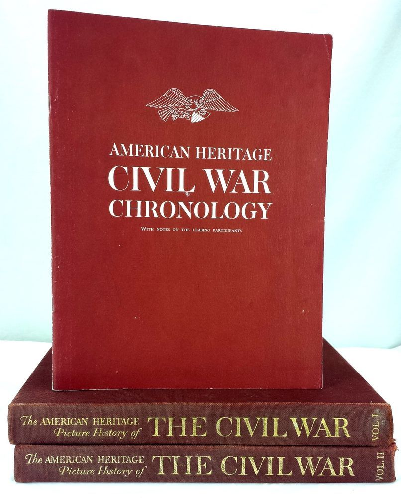 American heritage picture 2 vol set history the civil war