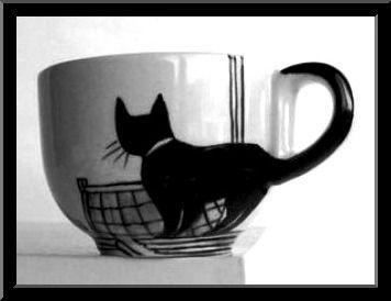 Love This Black Cat Coffee Cup Coffeeeeee Pinterest Mugs