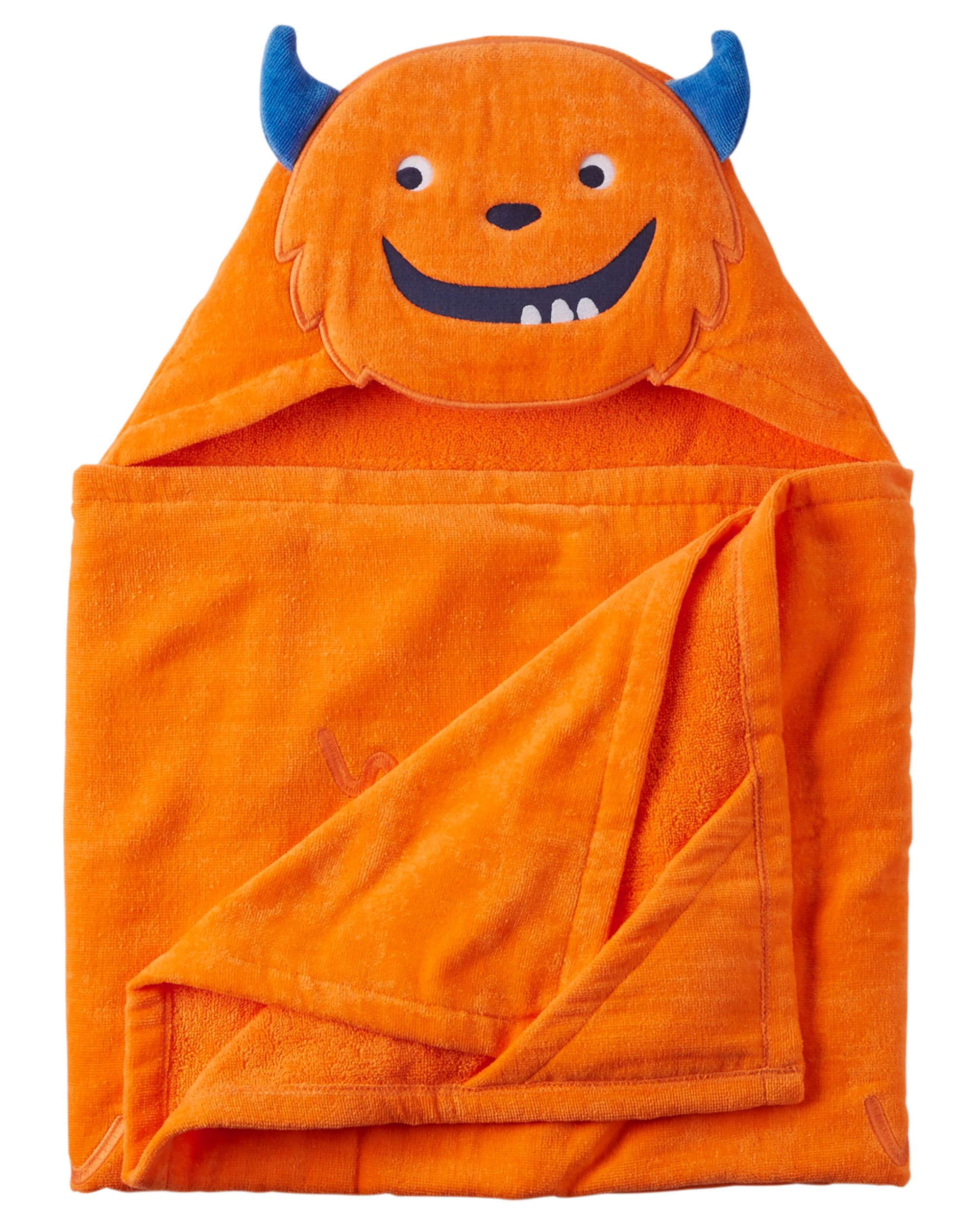 Monster Hooded Towel Carters Com Baby Boy Accessories Hooded