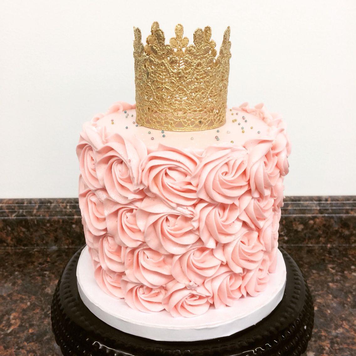 Pink And Gold Princess First Birthday Smash Cake Cami S Cake Co In Eudora Ks