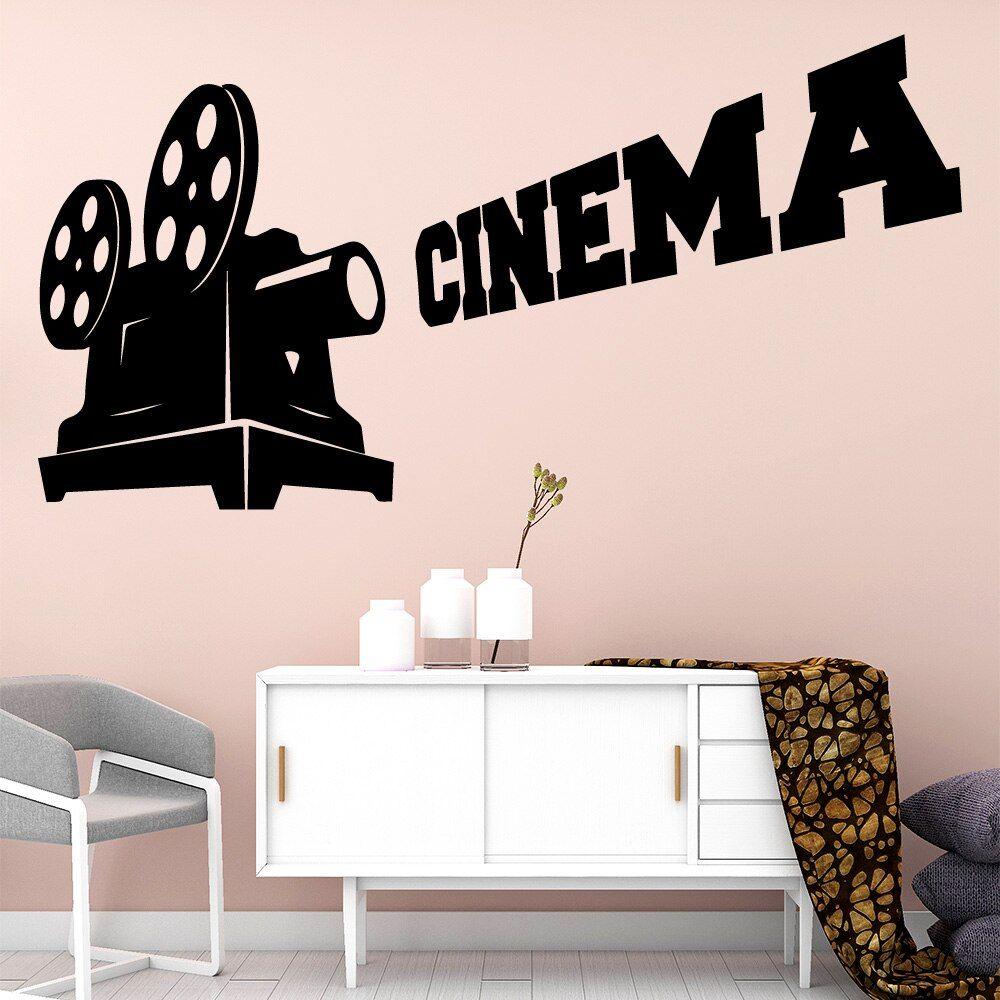Romantic Cinema Wallpaper Modern Interior Art Wall Stickers Decoration For Baby Kids Rooms Decor Art Decals Muursticker