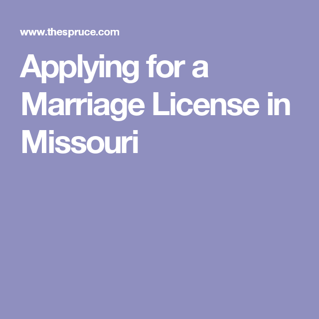 What Do You Need To Apply For A Marriage License In