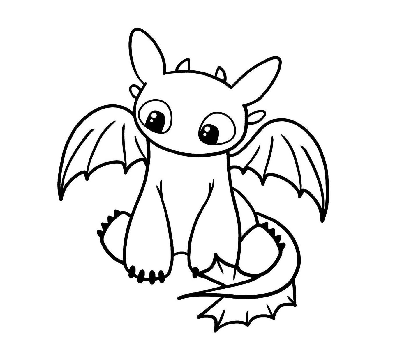 Cute Toothless Vinyl Decal How Train Your Dragon Dragon Coloring Page Cute Toothless