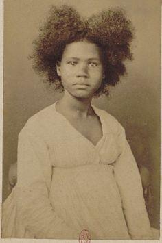 Retro black hairy woman