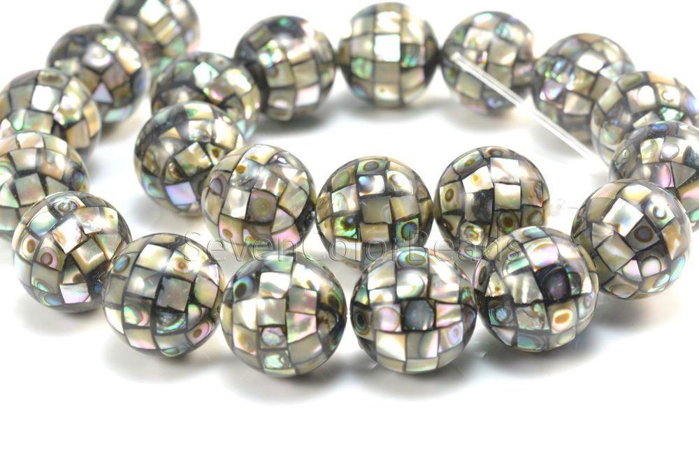 abalone shell ball bead, paua shell bead,10-18mm, round ball , gemstone natural