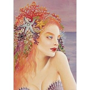 Maxine Gadd Art | Janthina Mermaid Art Card by Maxine Gadd - Polyvore