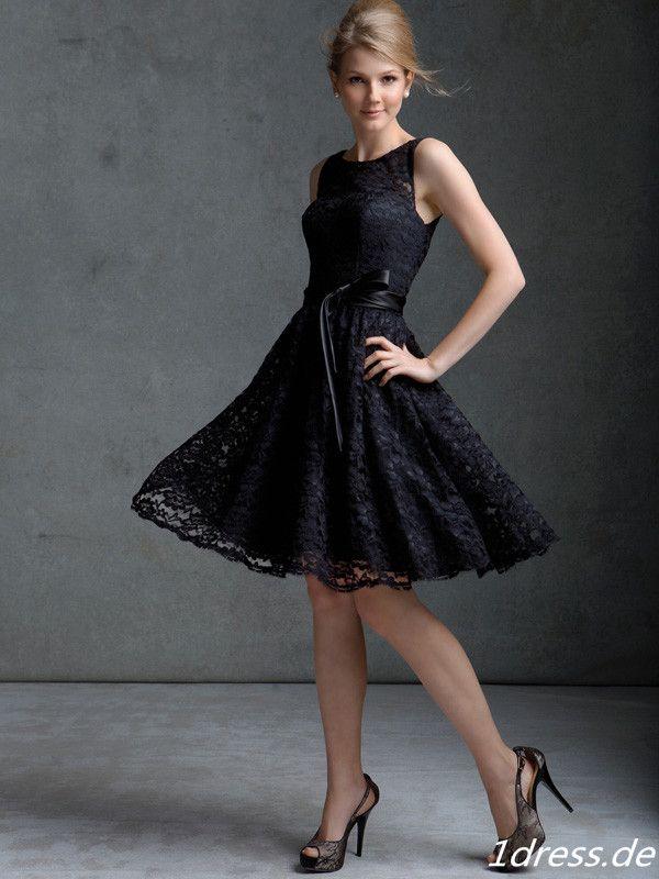schwarze kurze kleider dress. Black Bedroom Furniture Sets. Home Design Ideas