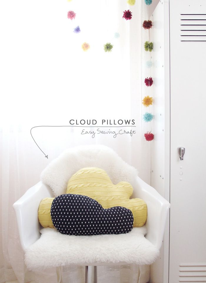 DIY   Knit Cloud Pillows - Making Nice in the Midwest