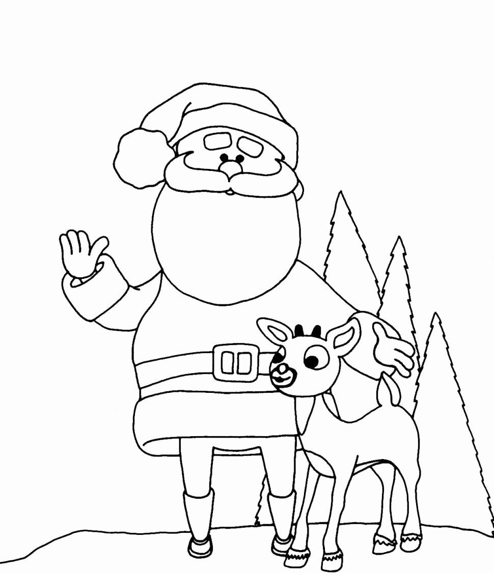 Coloring Pages Santa Claus New Cozy Ideas Santa Claus and ...