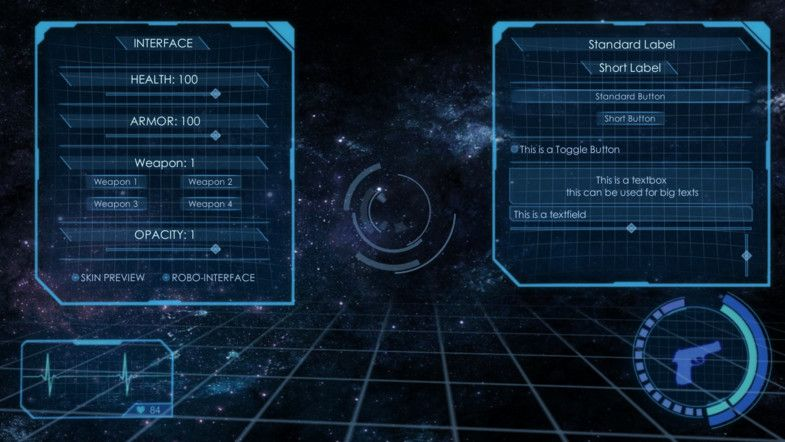 Asset Store - 3D Holographic Interface + GUI Skin | Sci-Fi