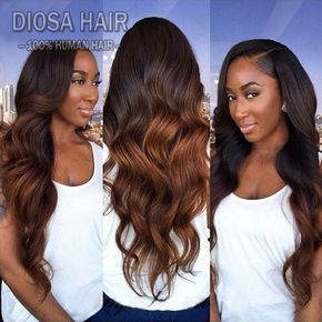 Ombre Full Lace Human Hair Wigs For Black Women Glueless Ombre Lace