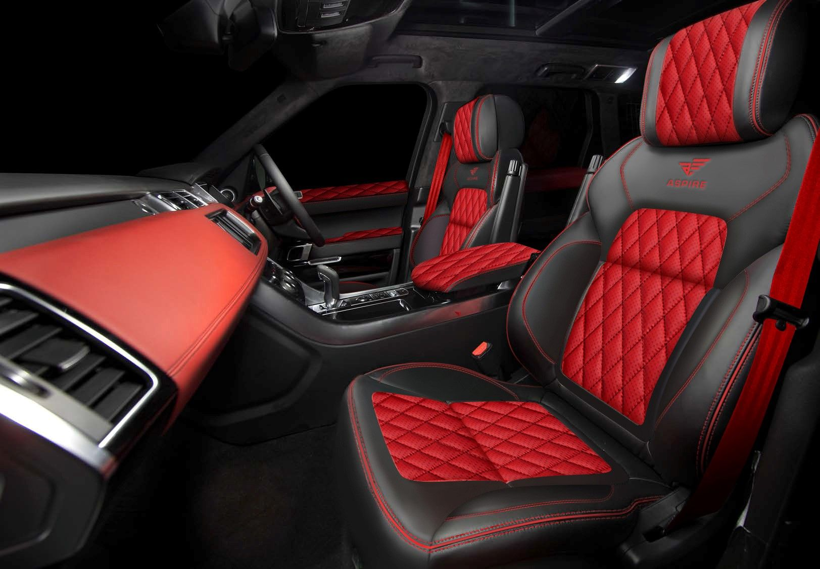 bespoke body styling and kits for the new range rover sport red and black interior. Black Bedroom Furniture Sets. Home Design Ideas