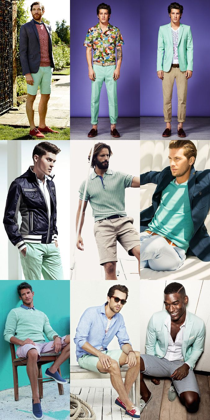 Three Alternative Colours For High Summer 2013 Mint Shirt Outfits Shirt Outfit Men Mint Shirt