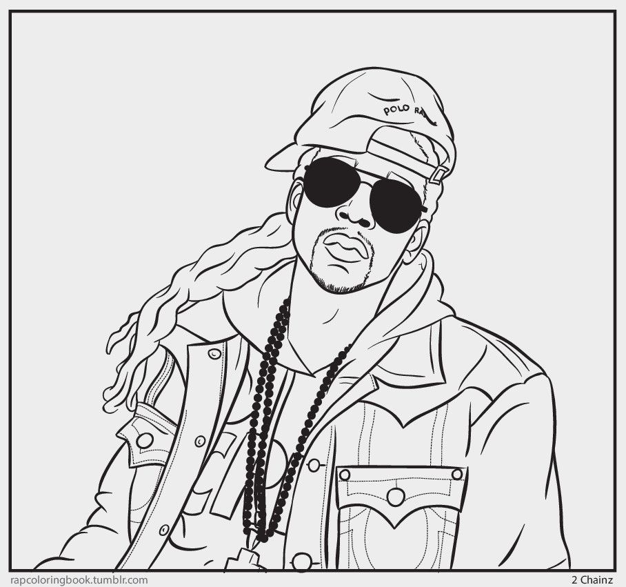 It is a graphic of Nifty Rapper Coloring Pages