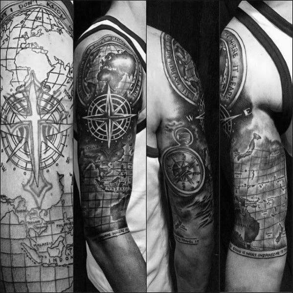 Top 57 Tattoo Cover Up Ideas 2020 Inspiration Guide Weltkarte