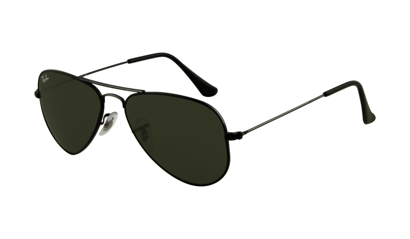 ray ban aviator black small