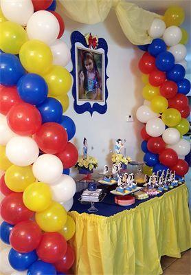 Parties Surprises Snow White Decoracion De Cumpleanos