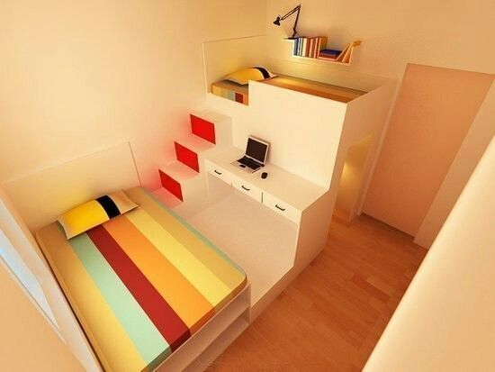 Design For Small Room Apartment One 1 Room For Two 2 Kids Home Home Decor Interior