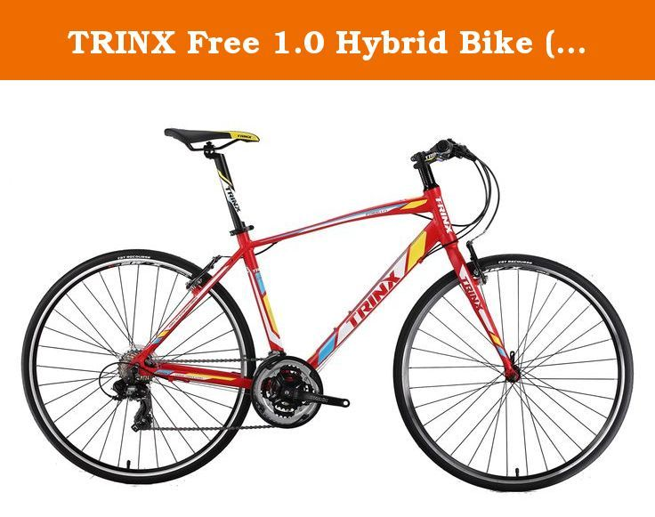 Trinx Free 1 0 Hybrid Bike Red White Yellow Free 1 0 Hybrid 21 Speed Frame 700c 480mm Alloy Fork Trinx Hi Ten Steel Pe Hybrid Bike Bicycle Bike