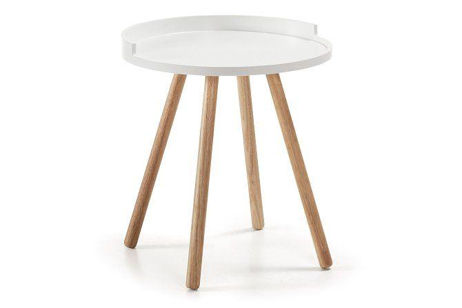 Sivupöytä Bruk Valkoinen Ø46 -  | Kodin1.com