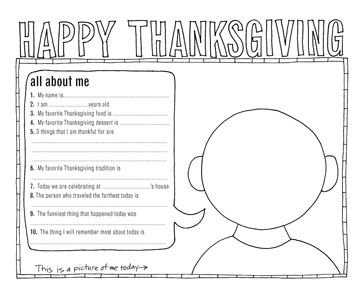 6 Adorable Free Thanksgiving Placemats For Kids Thanksgiving