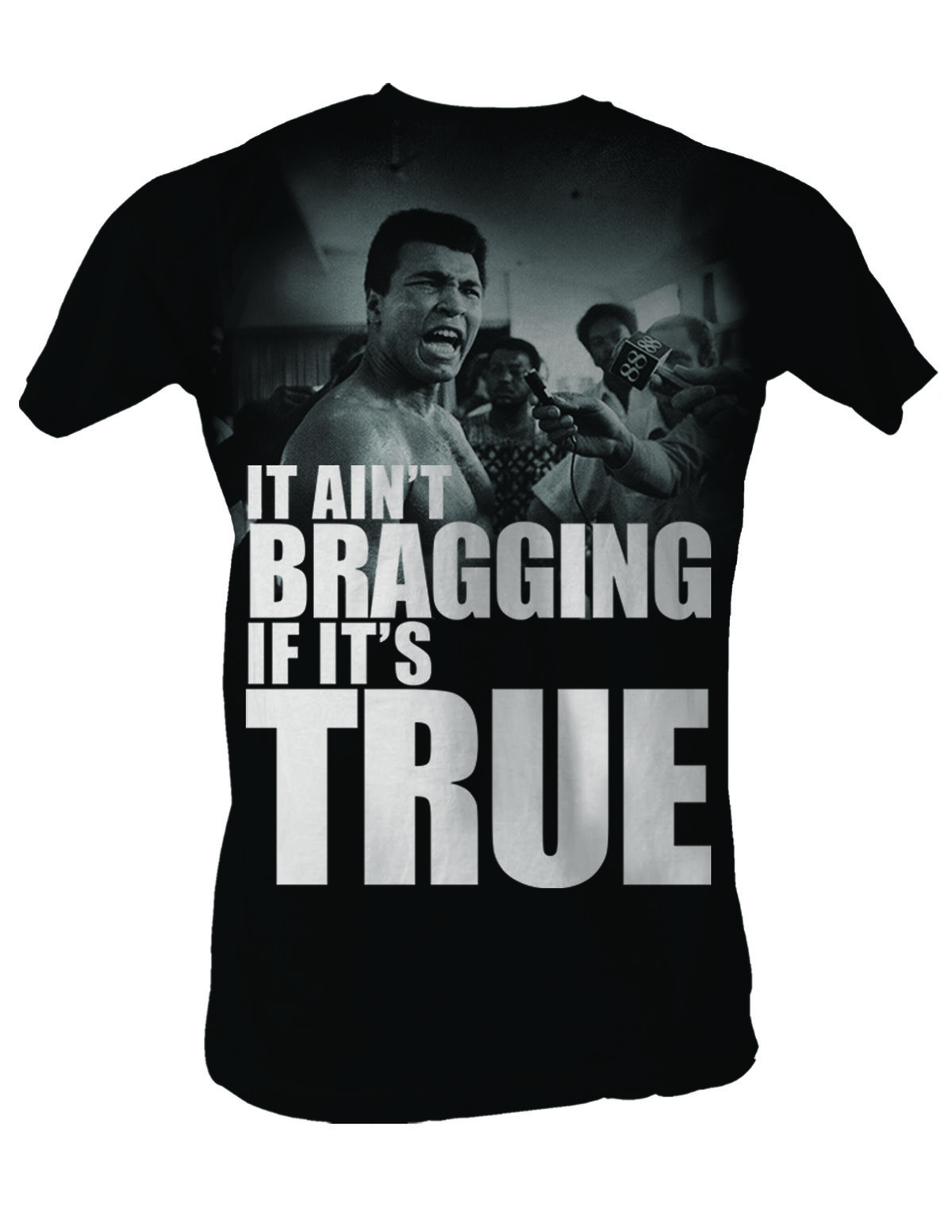 muhammad ali t shirt adult grimace black tee shirt. Black Bedroom Furniture Sets. Home Design Ideas