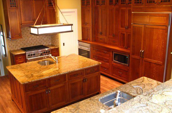 Oak Cherry Amish Custom Kitchen Cabinets Indiana Kentucky Illinois Photo