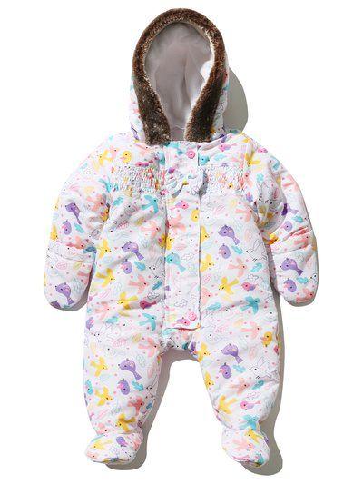 6ad390635 Bird Print Hooded Snowsuit
