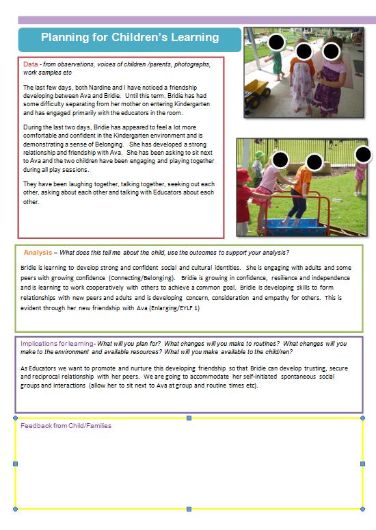 An early digital learning story.an idea …. | eylf ...