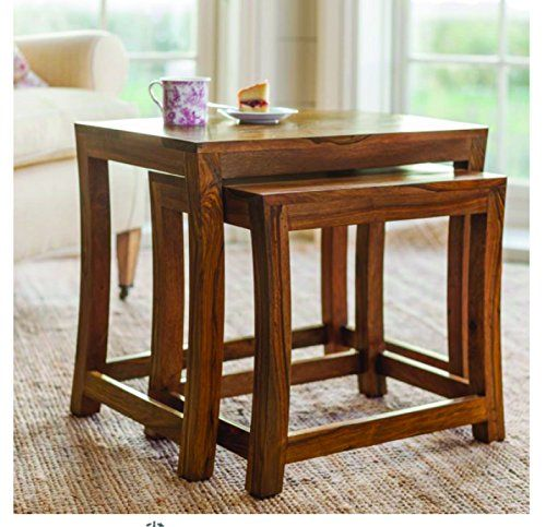 SNG Solid Wood Nesting Duet Tables Teak Finish Mango Wood ** Details Can Be  Found