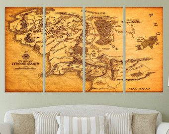 Middle Earth Map Large.Check Out Lord Of The Rings Of Middle Earth Vintage World Map Map