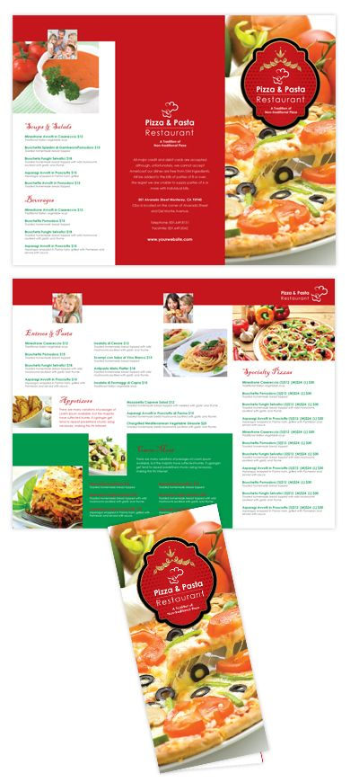 Italian Restaurant Take-out Menu Template Italian Restaurant Take - lunch menu template