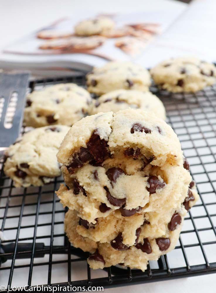 Keto Chocolate Chip Cookies #ketocookierecipes