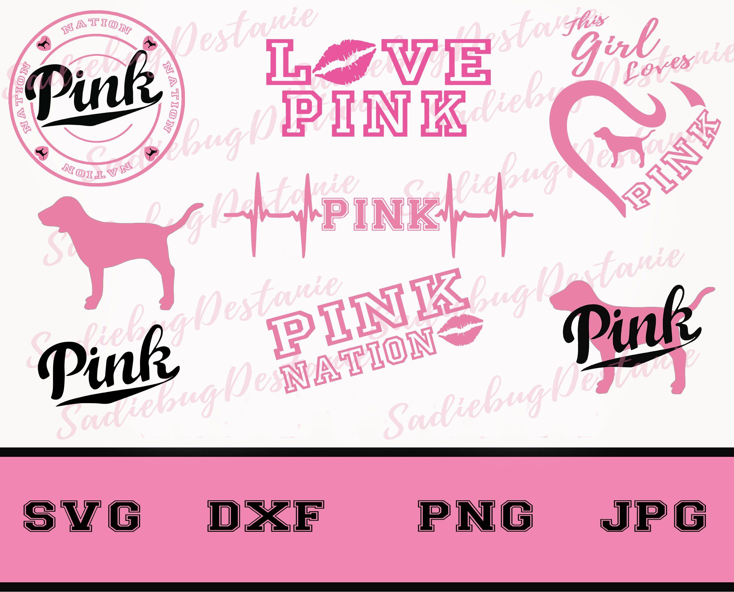 Bundle! Love Pink SVG File Love Pink Clip Art Pink