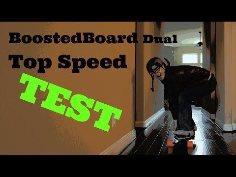 Boostedboard dual TOP speed test - YouTube