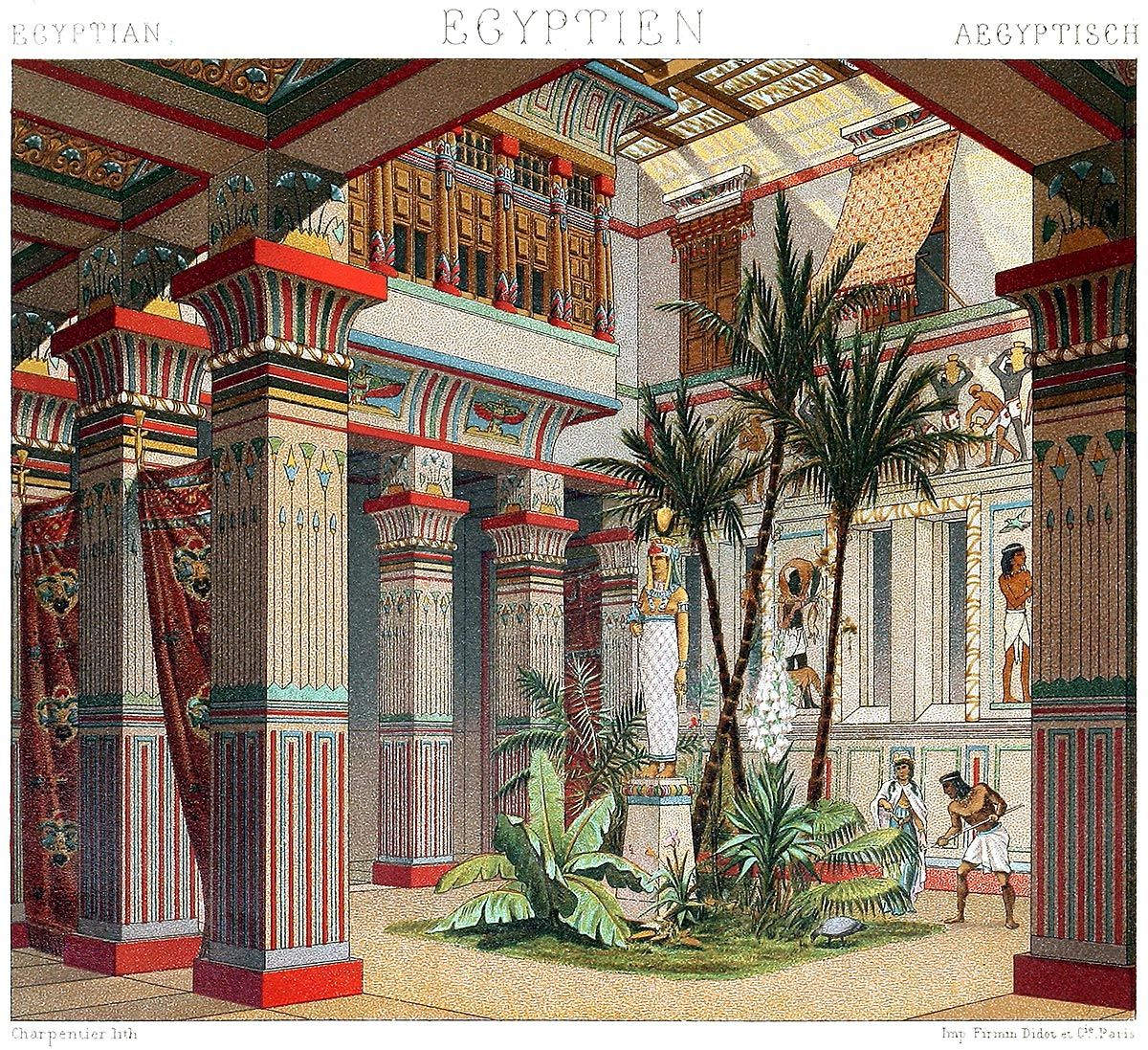 Egypt Interior Of A Rich House From The Early Ancient Egyptian Architecture Ancient Egyptian Costume Ancient Egypt Art