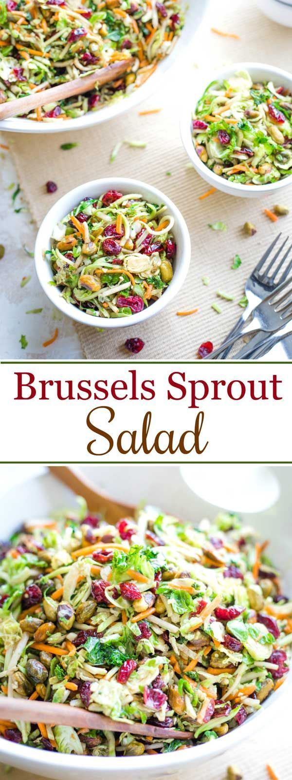 Superfoods Brussels Sprout Salad - Two Healthy Kitchens