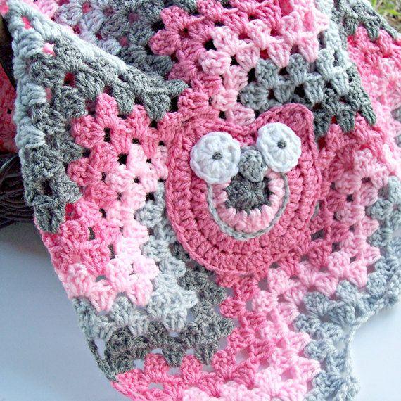 Chevron Crochet Baby Blanket- Crochet Owl Blanket - Granny Square ...