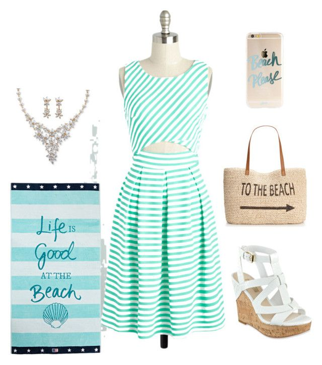 """""""Great beach day outfit"""" by averye-beard on Polyvore featuring GUESS, Style & Co., Lexington and Palm Beach Jewelry"""