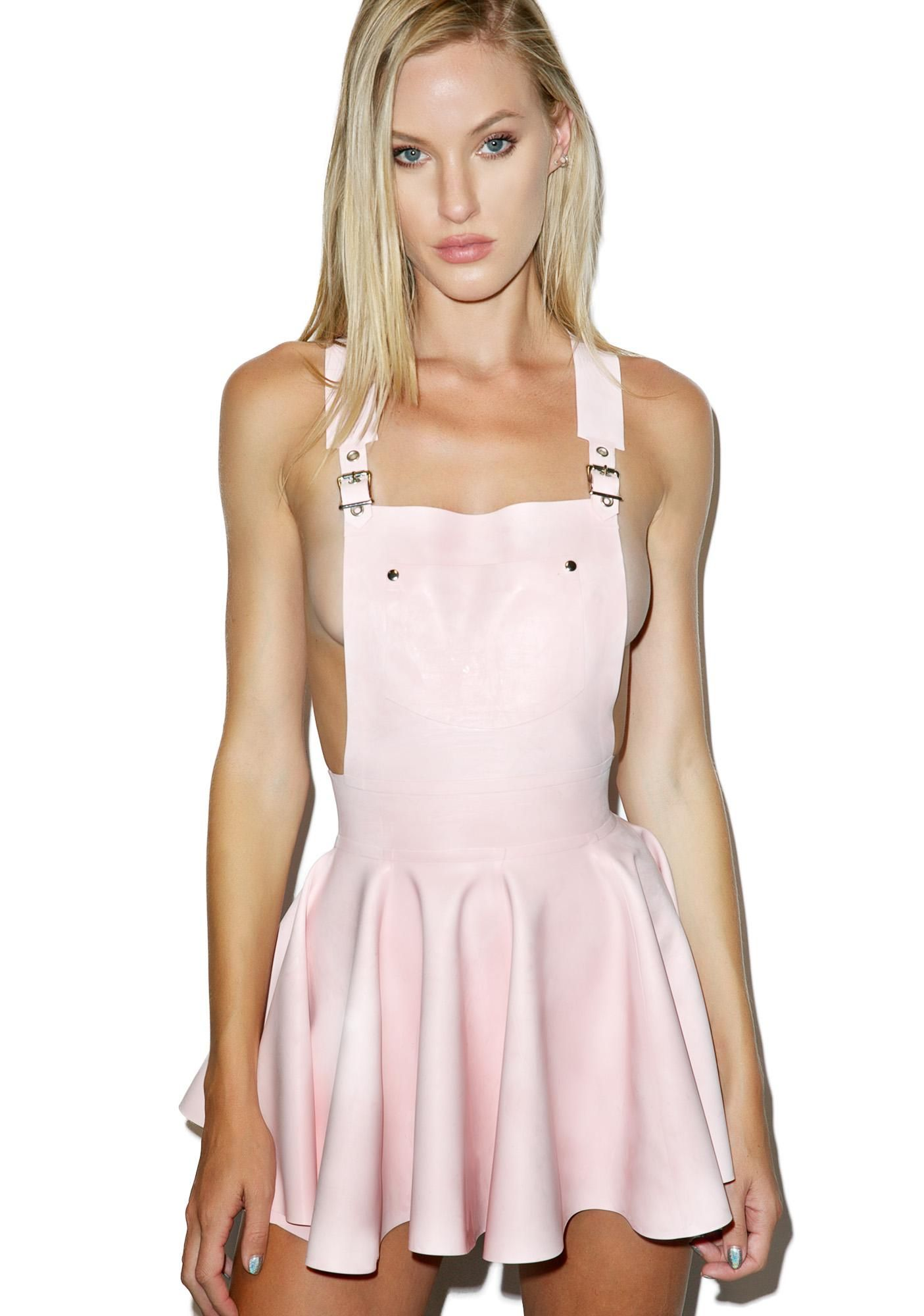 9d5f0dd17f5 Jane Doe Latex Overall Mini Dress
