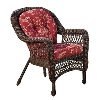 69 30 Wilson Fisher Savannah Resin Wicker Cushioned Chair At Lots